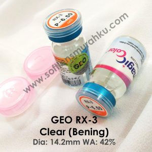 Softlens Geo RX-3 Bening (Clear)