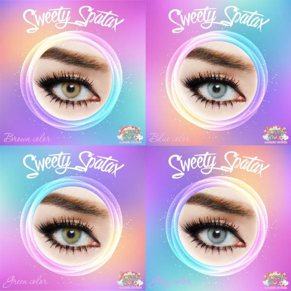 details softlens sweety spartax grey brown blue green