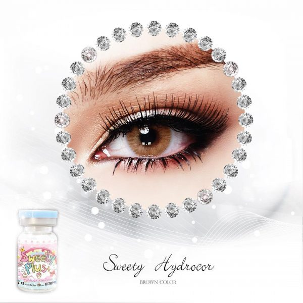 jual sweety hydrocor brown lens
