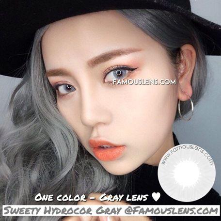 sweety hydrocor grey softlens