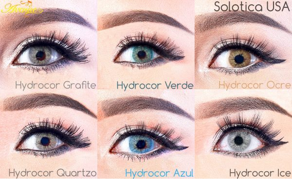 softlens Avenue Solotica Hydrocor all color