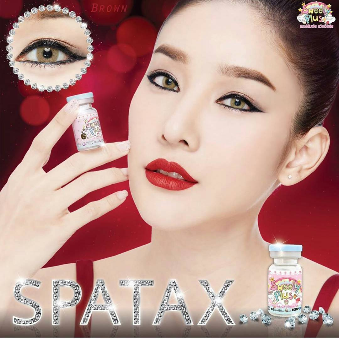 Sweety Spatax Brown Softlens Minus 150 Gratis Lenscase Daftar Lovely Girl New Only 145mm