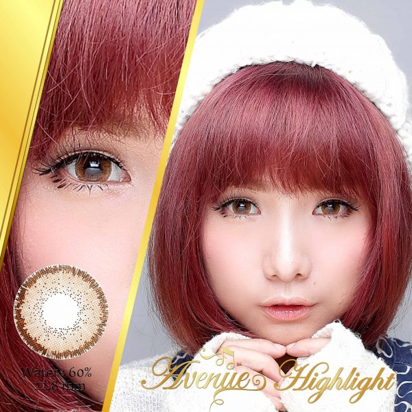 softlens avenue highlight brown