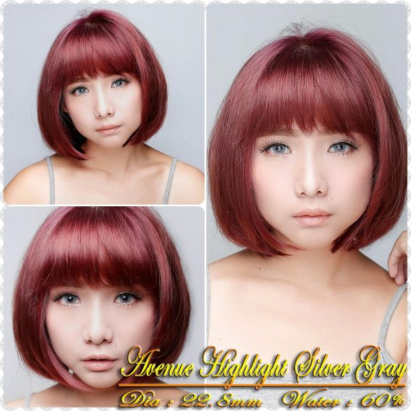avenue highlight silver grey softlens