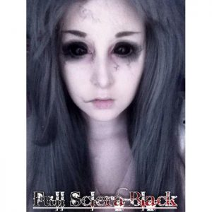 NEW Softlens FULL SCLERA Black Lens