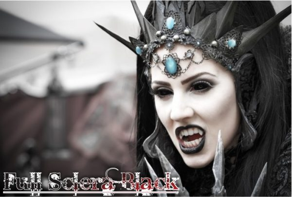 full sclera black