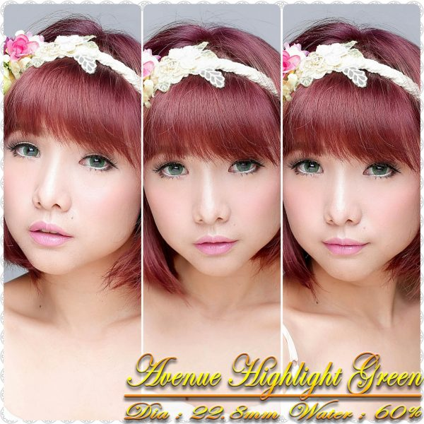 avenue highlight green softlens
