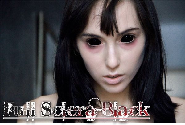 full sclera black softlens