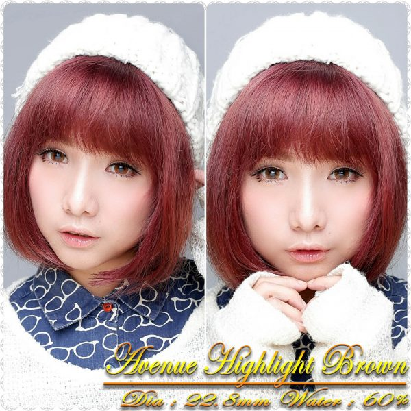 softlens avenue highlight brown lens