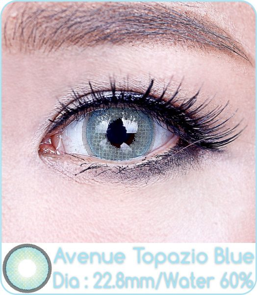 softlens avenue topazio blue