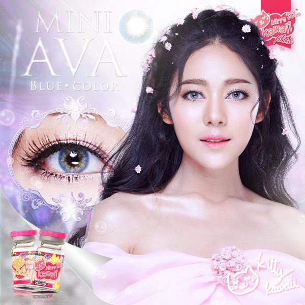 softlens kitty kawaii mini ava blue