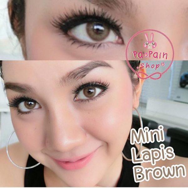 softlens dreamcon mini lapis brown lens