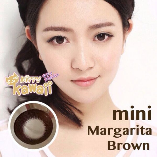 softlens kitty kawai mini margarita brown / choco