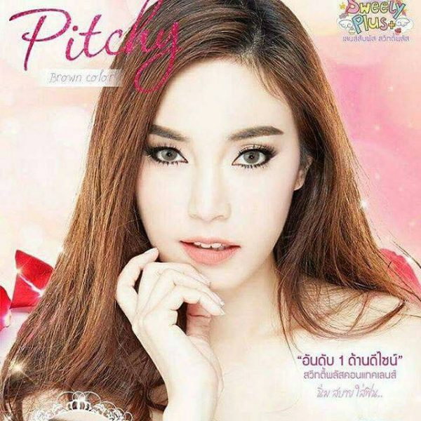 softlens pitchy brown sweety plus