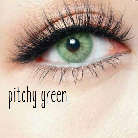 softlens pitchy green softlens warna hijau cantik