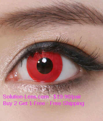 geo animation & crazy lens cp-f3 softlens merah polos