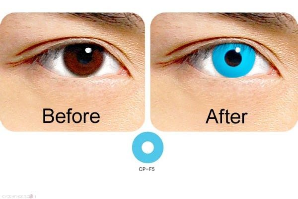 blue contact lens cp-f5