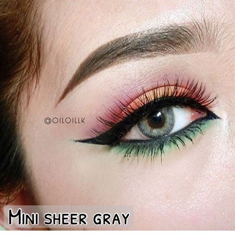 mini sheer grey kitty kawaii softlens abu abu natural