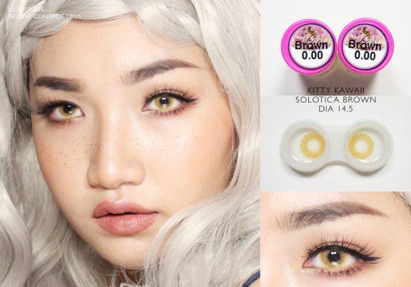 softlens kitty kawaii solotica brown