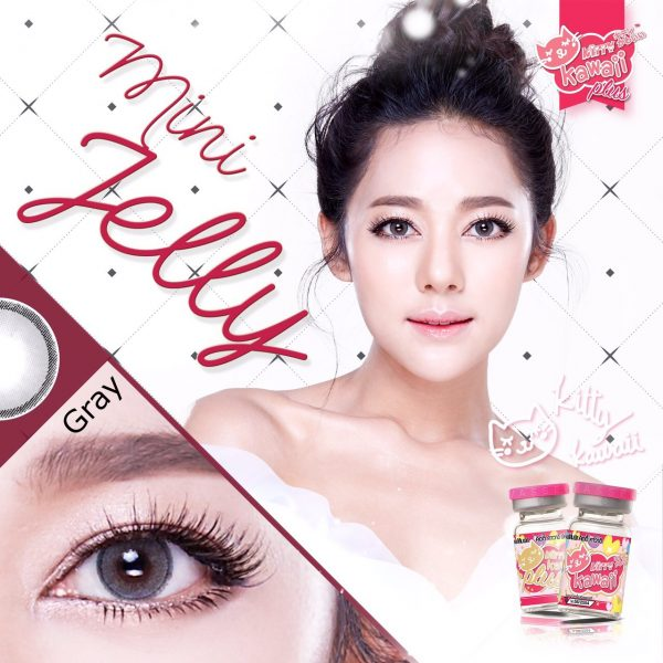 kitty kawaii softlens mini jelly grey