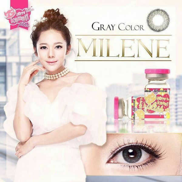 softlens kitty kawaii milene grey