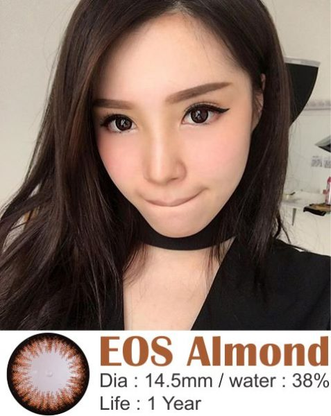 softlens eos almond brown