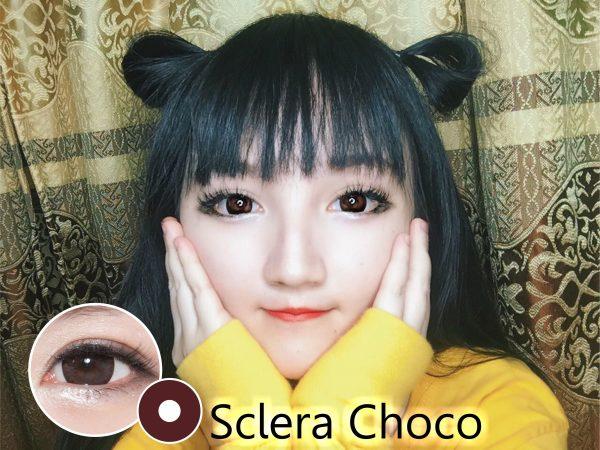Softlens sclera choco