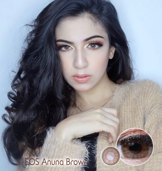 eos anuna brown softlens
