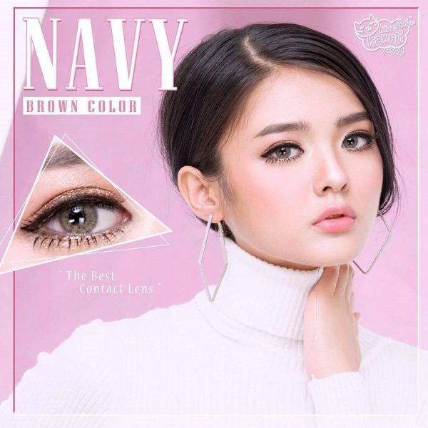 kitty kawaii softlens navy brown