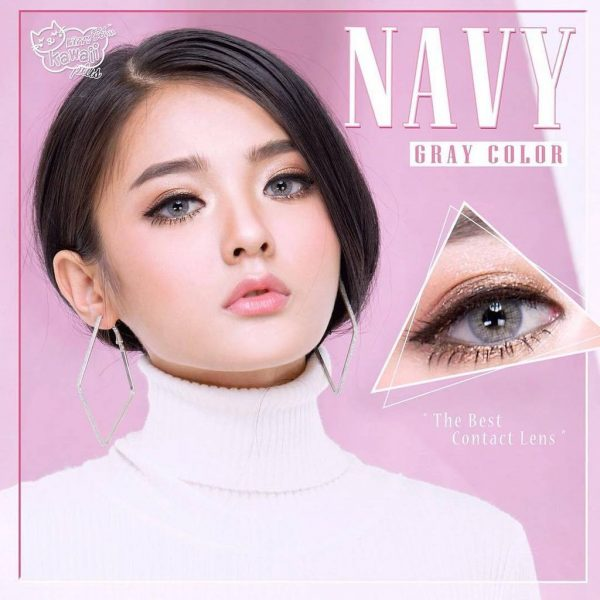 kitty kawaii softlens navy grey
