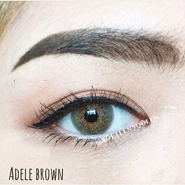 pretty doll adele brown softlens
