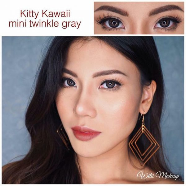 kitty kawaii mini twinkle grey