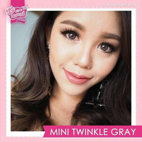 mini twinkle grey softlens by kitty kawaii