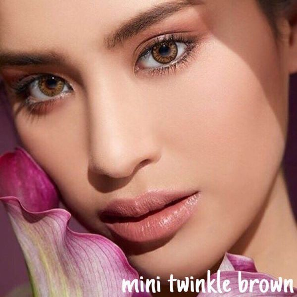 softlens kitty kawaii mini twinkle brown