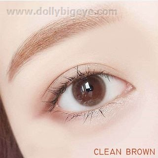 mini clean brown softlens