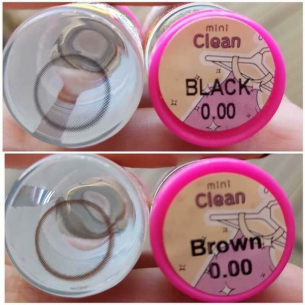 softlens mini clean black & brown by kitty kawaii