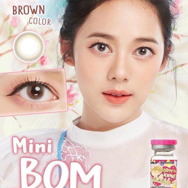 kitty kawaii mini bom brown softlens