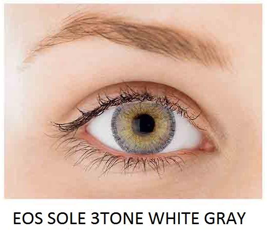 eos sole 3 tone white gray