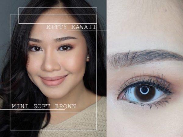 mini soft brown lens