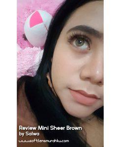 review mini sheer brown sis salwa 2