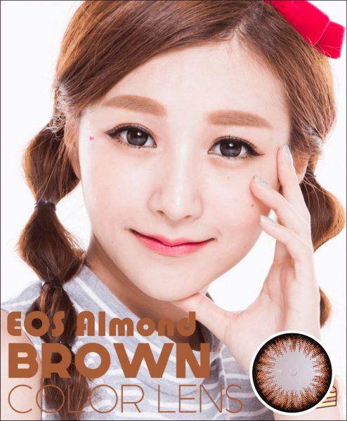 softlens eos almond brown